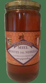 frasco de miel de milflores