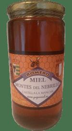 frasco de miel de romero