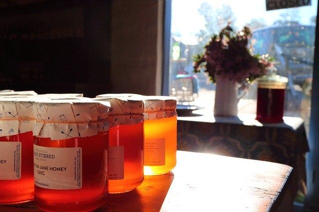 botes de miel de eucalipto